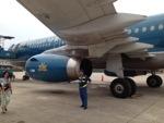 Самолет Vietnam Airlines в аэропорту Ханоя